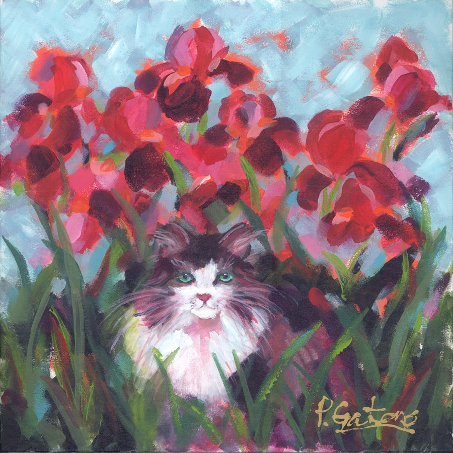 """Crimson & Clover"" original fine art by Pamela Gatens"