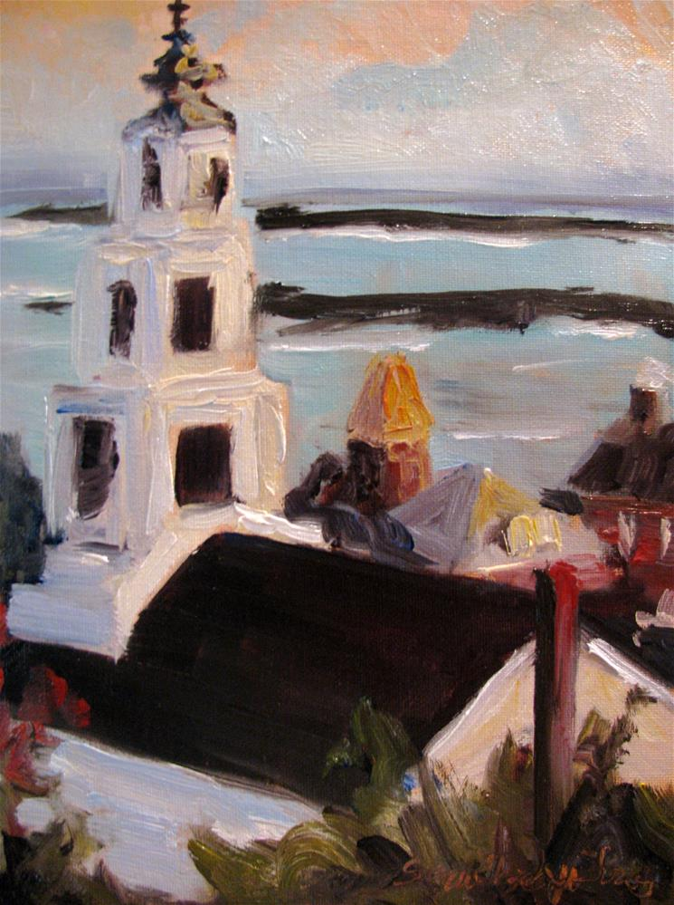 """Chapel by the Sea"" original fine art by Susan Elizabeth Jones"