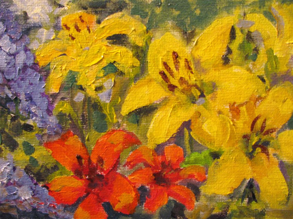 """Christy's Flowers"" original fine art by Susan Elizabeth Jones"