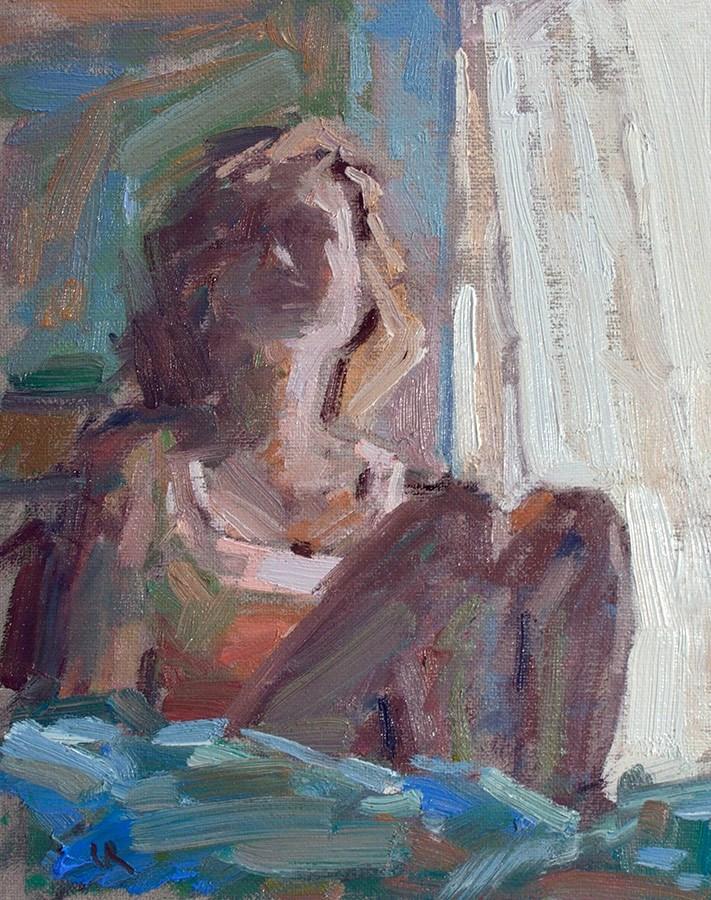 """In a shadow"" original fine art by Lena  Rivo"