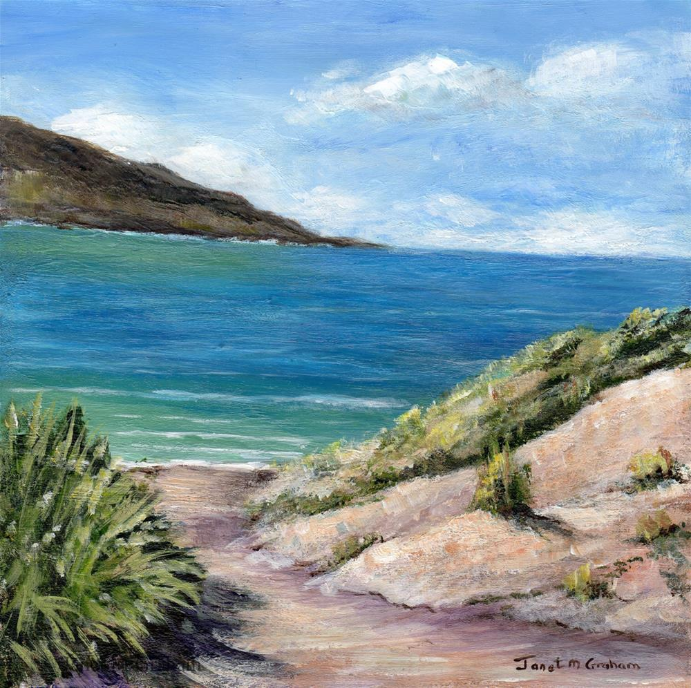 """Path to the Sea"" original fine art by Janet Graham"