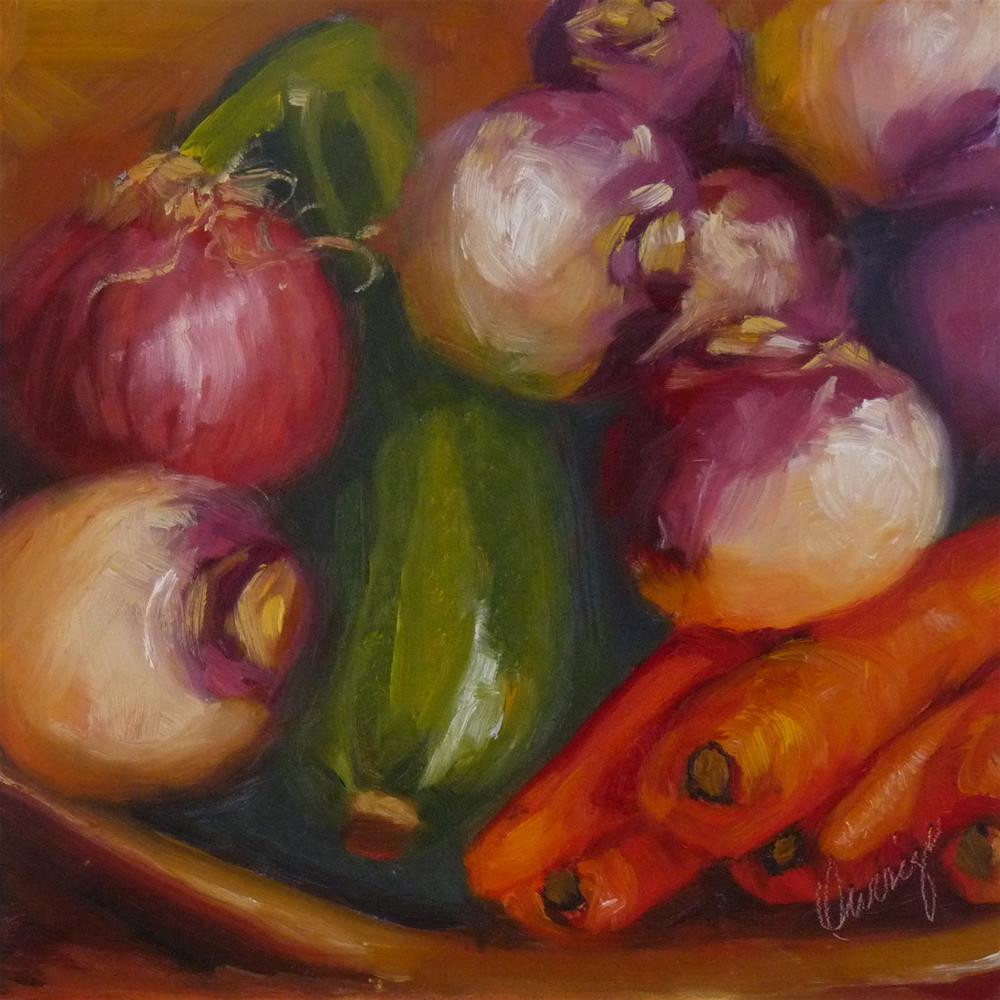 """Harvest"" original fine art by Sharman Owings"