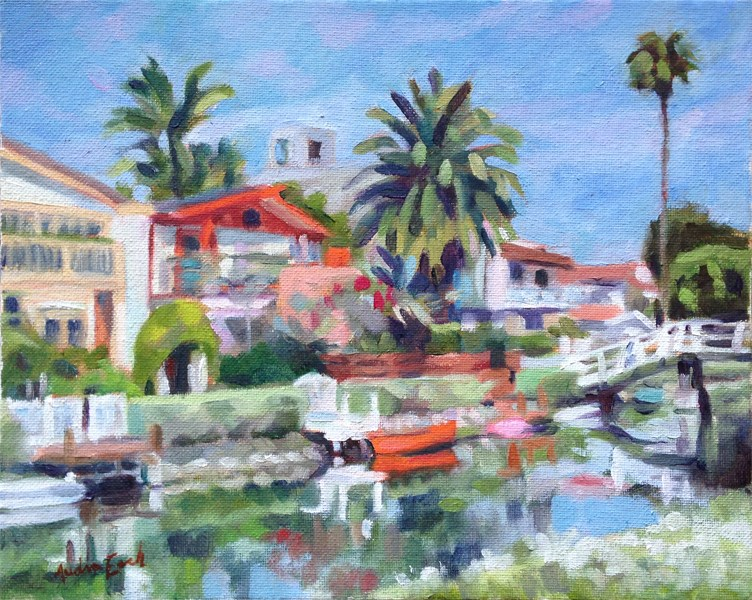 """""""Venice Canals Walkway #3"""" original fine art by Audra Esch"""