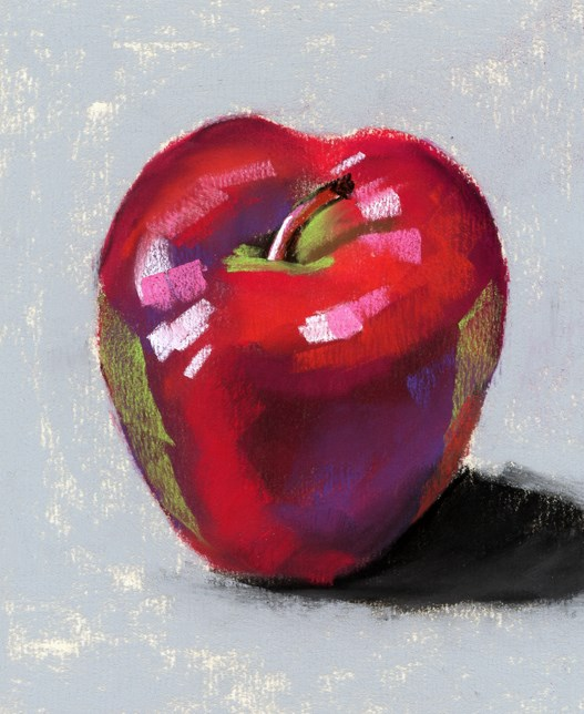 """2 apple painting studies"" original fine art by Ria Hills"