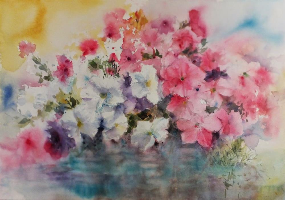 """""""水の上で"""" original fine art by Midori Yoshino"""