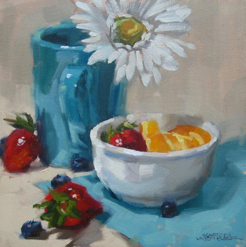 """Spring Berries"" original fine art by Karen Werner"