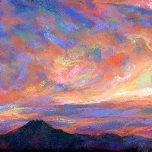 """PINK + BLUE - SOLD!"" original fine art by Susan Roden"