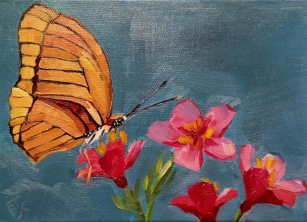 """Flutter By"" original fine art by Bobbie Cook"