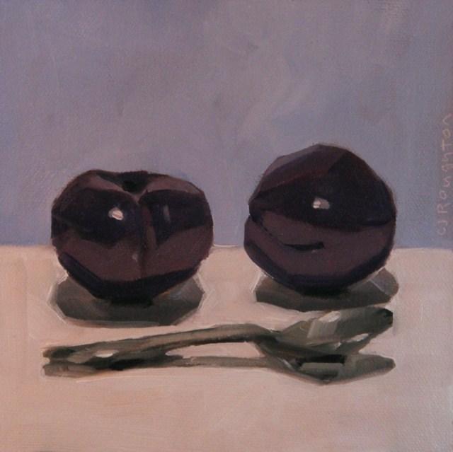 """Plum Tasty"" original fine art by C J Roughton"