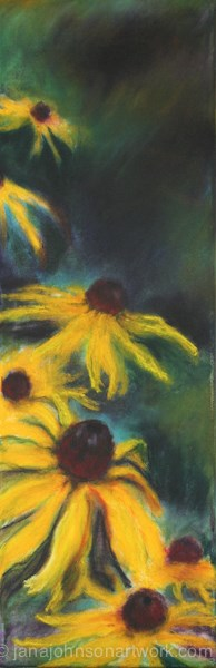 """Black Eyed Susans"" original fine art by Jana Johnson"