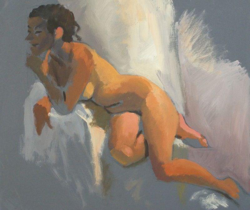 """""""leaning"""" original fine art by Peter Orrock"""