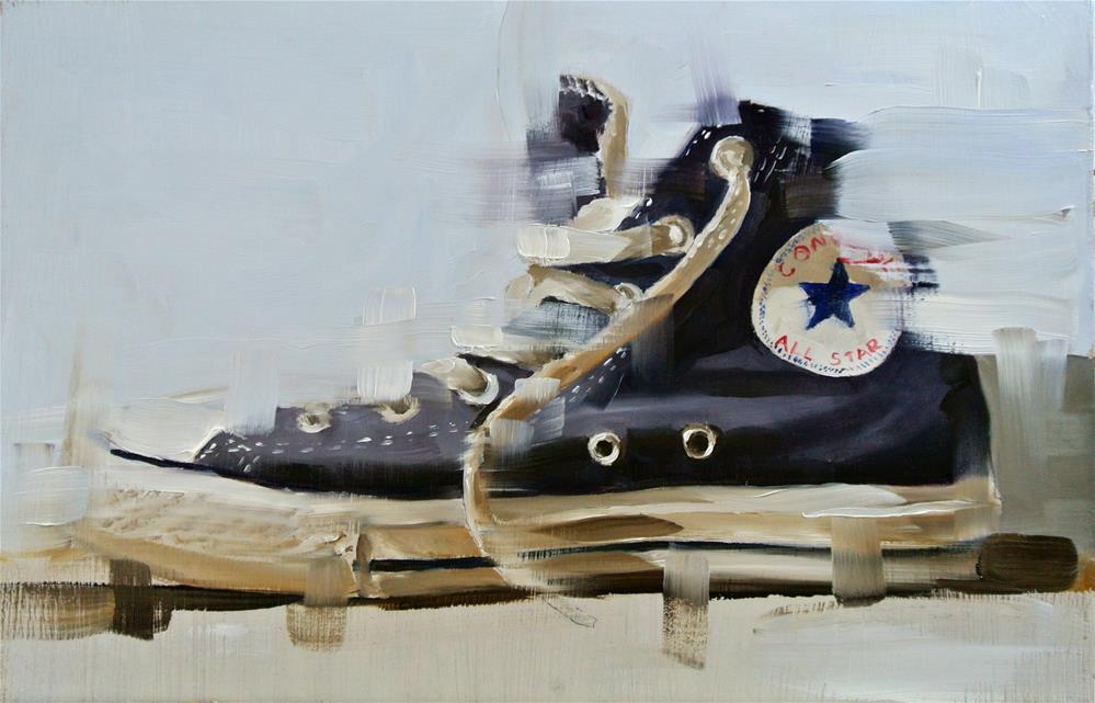 """Baseball Boot 2"" original fine art by James Coates"