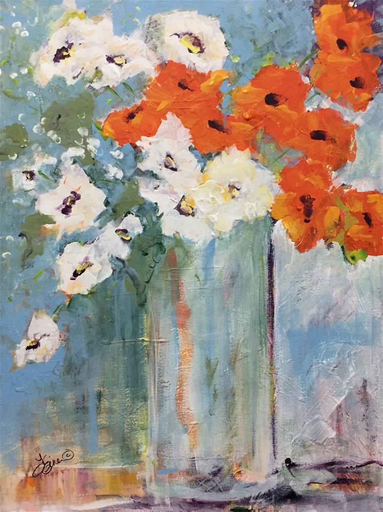 """""""Orange You Lovely"""" original fine art by Terri Einer"""