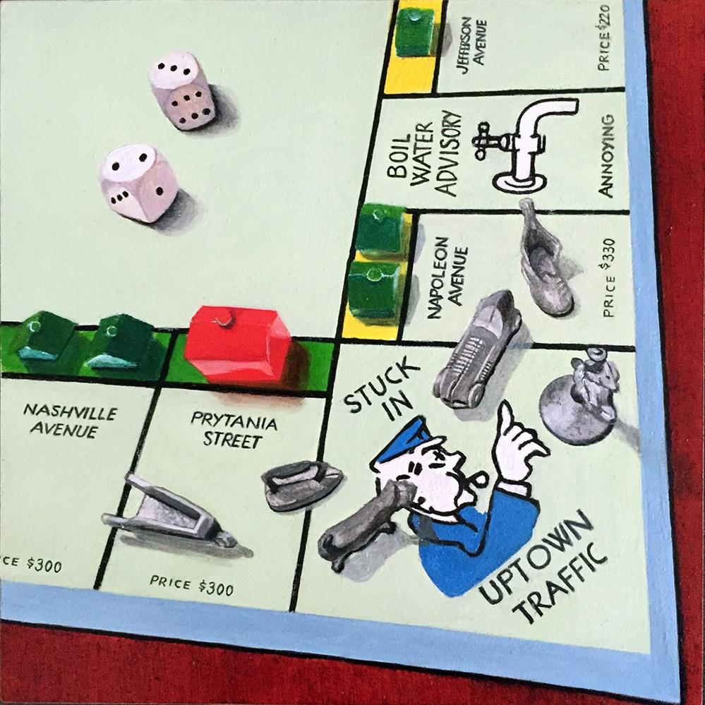 """NOLA Monopoly #3"" original fine art by Patti Adams"