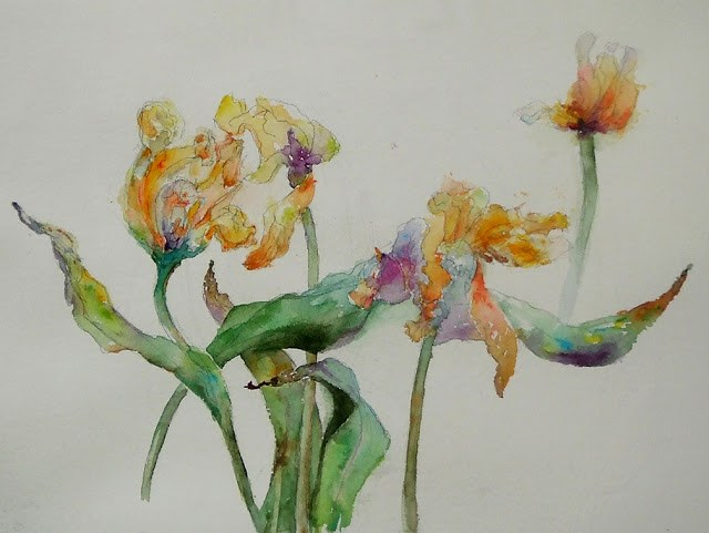 """Spring Joy"" original fine art by Mitsuru Cope"