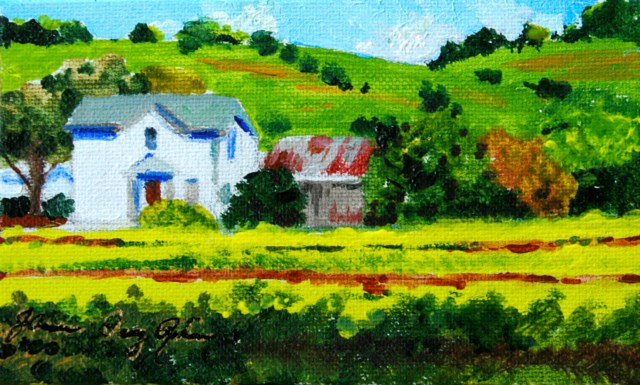 """Mustard Fields"" original fine art by JoAnne Perez Robinson"