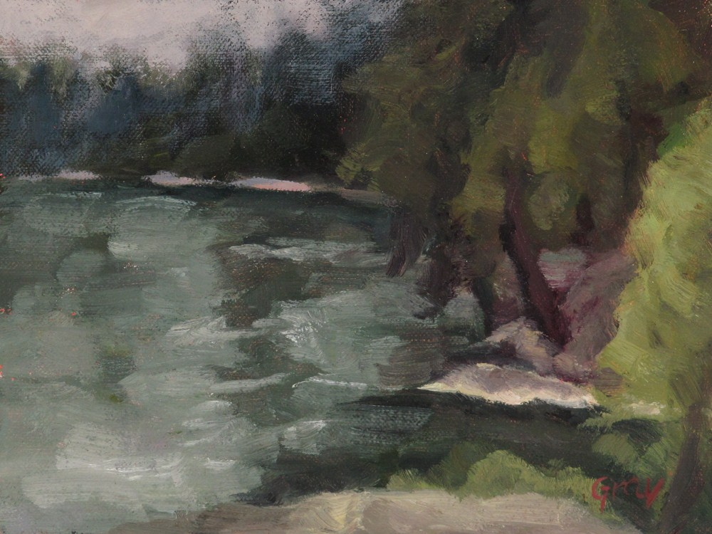 """Shoreline"" original fine art by Naomi Gray"