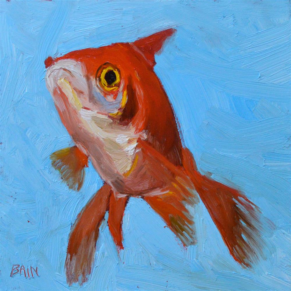 """Goldfish no. 5"" original fine art by Peter Bain"