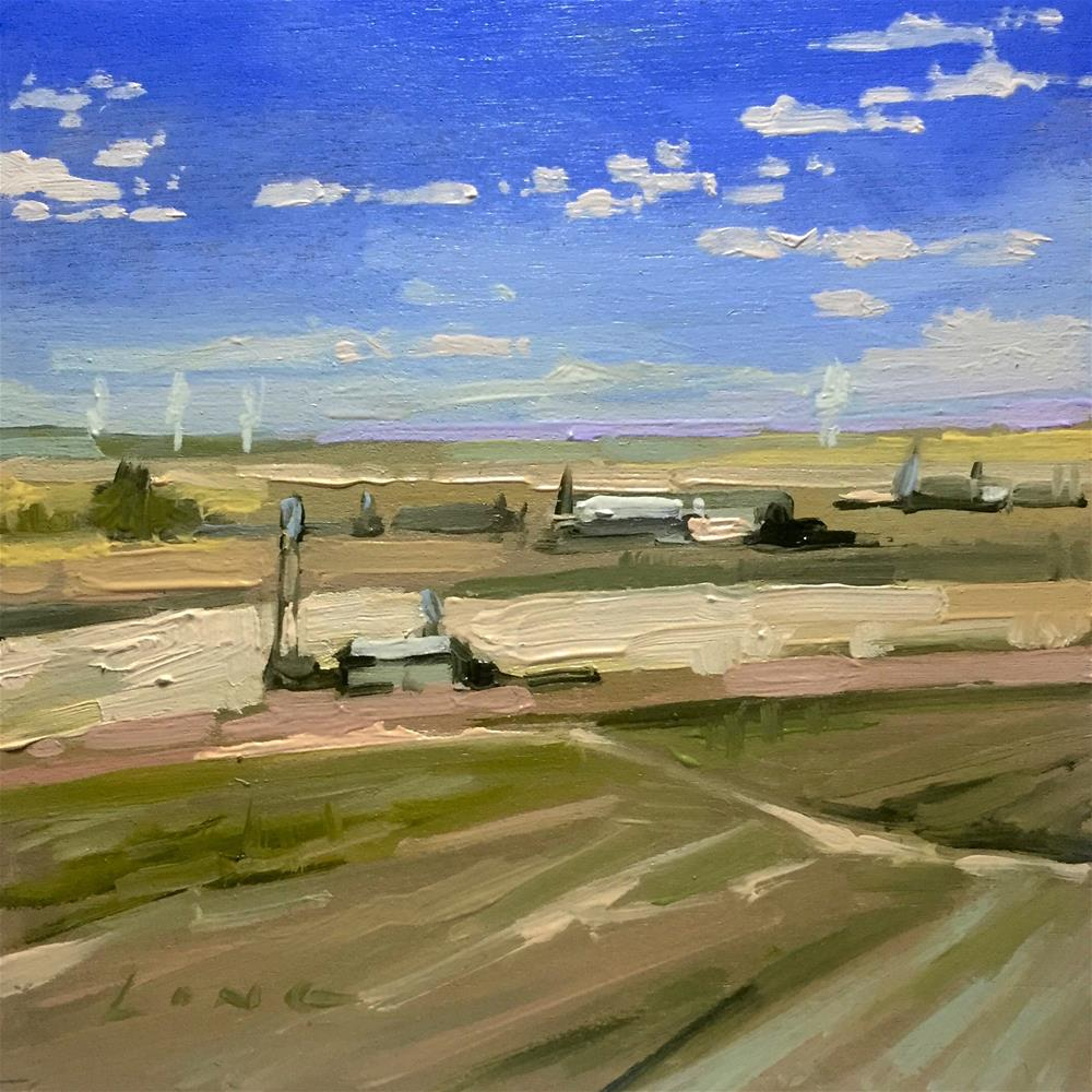 """Airfield"" original fine art by Chris Long"