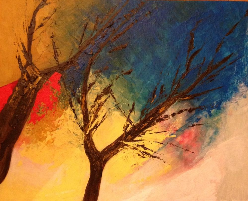 """Contemplating (3)"" original fine art by Monica Pinotti"