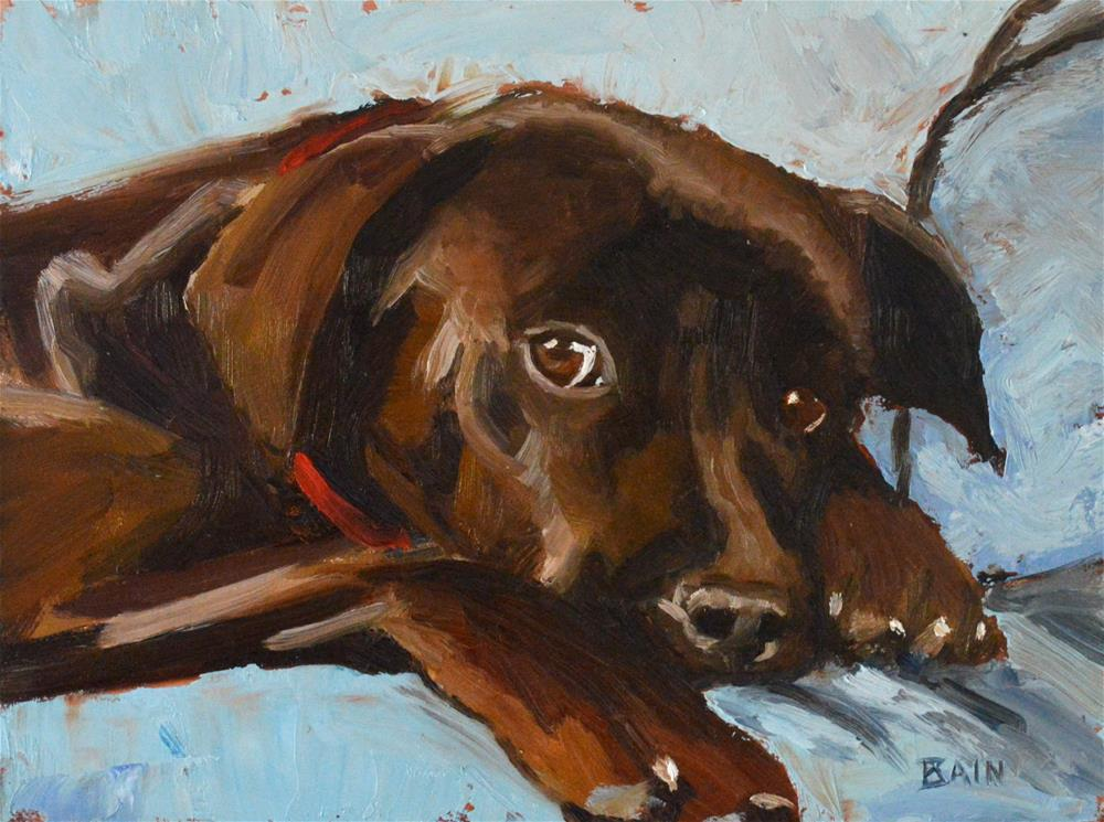 """Fudge Brownie"" original fine art by Peter Bain"