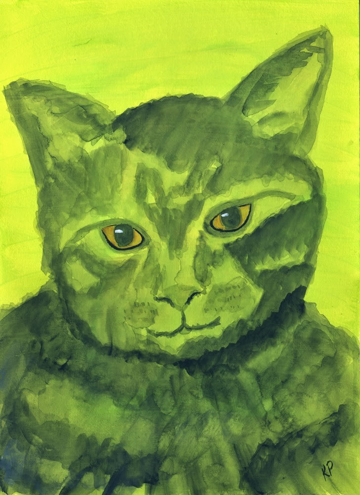 """Meow"" original fine art by Kali Parsons"