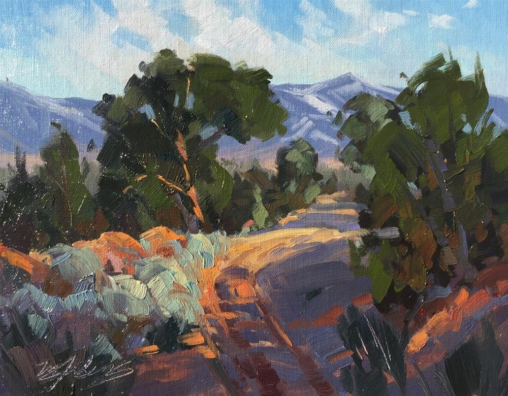 """Juniper Evening"" original fine art by Mary Jabens"