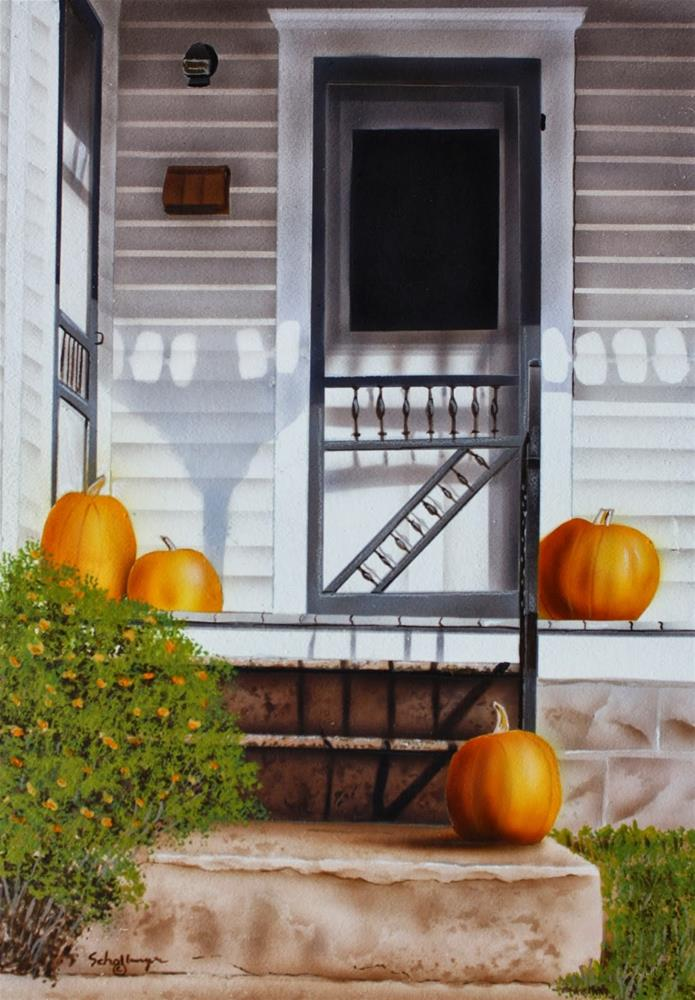 """Harvest Porch"" original fine art by Fred Schollmeyer"