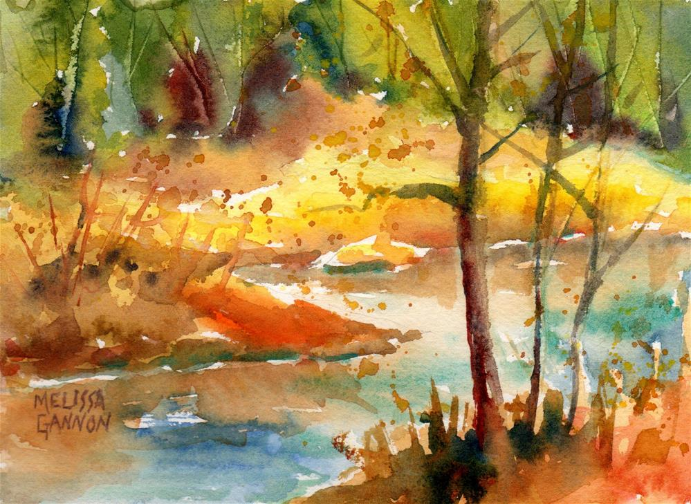 """Watercolor Landscape"" original fine art by Melissa Gannon"