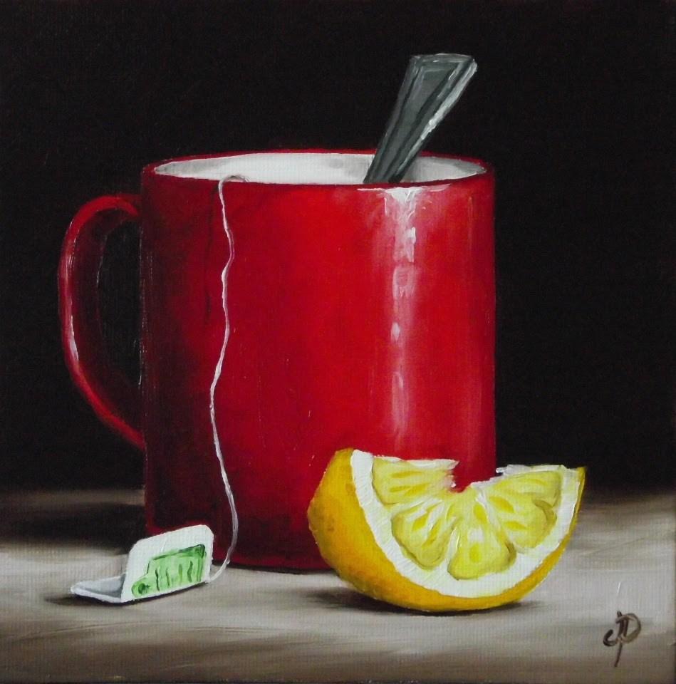 """Lemon Tea"" original fine art by Jane Palmer"