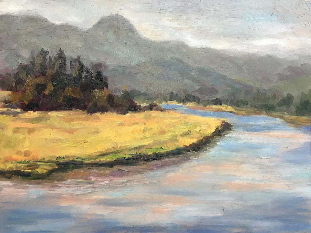 """Marshland in Wheeler, Oregon"" original fine art by Allison Doke"