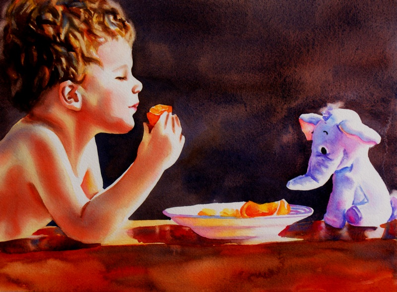 """To Catch A Heffalump"" original fine art by Crystal Cook"