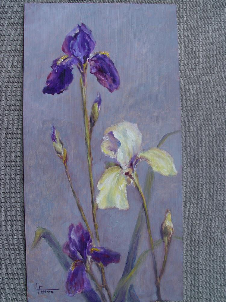 """Irises"" original fine art by Lina Ferrara"
