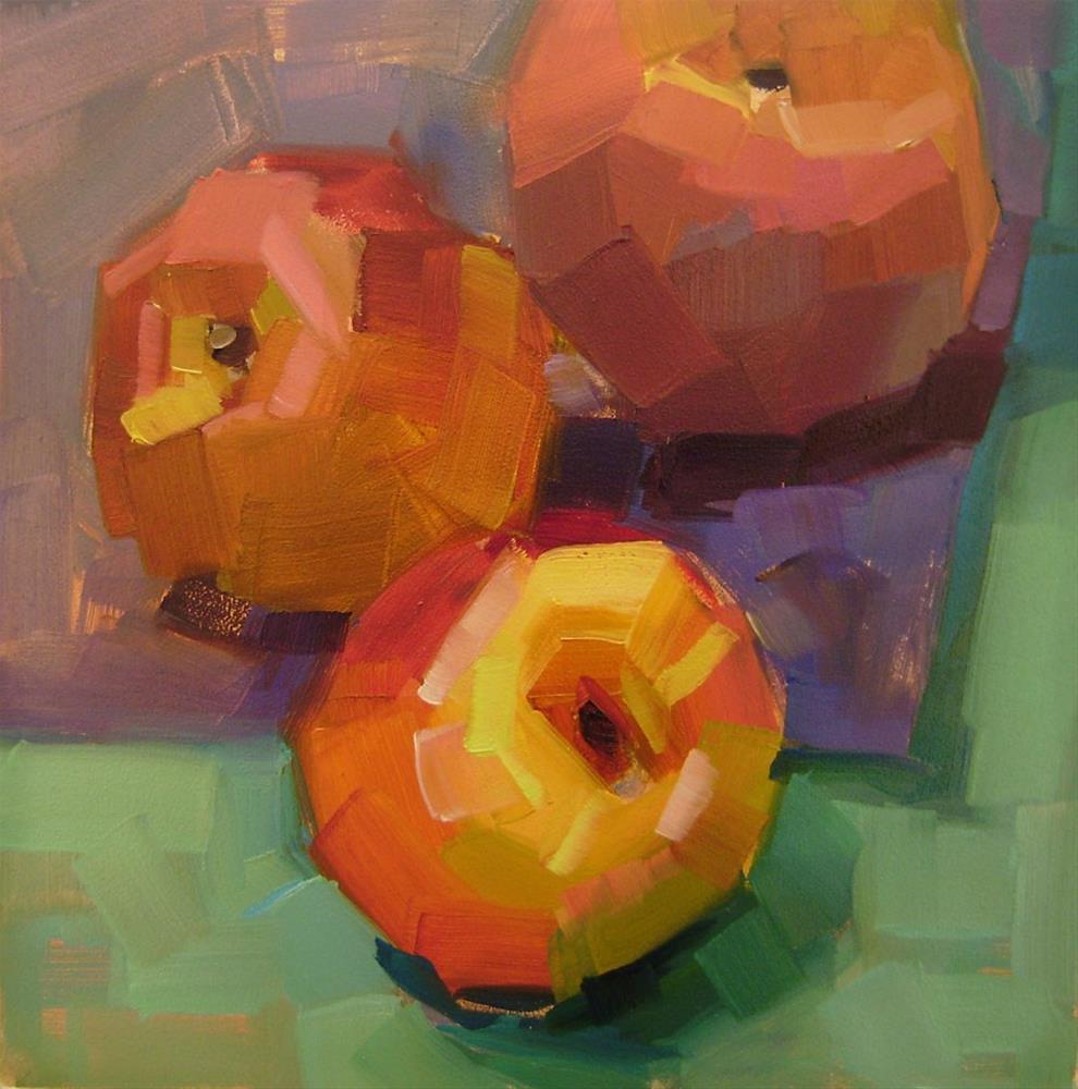 """""""Peachy"""" original fine art by Holly Storlie"""