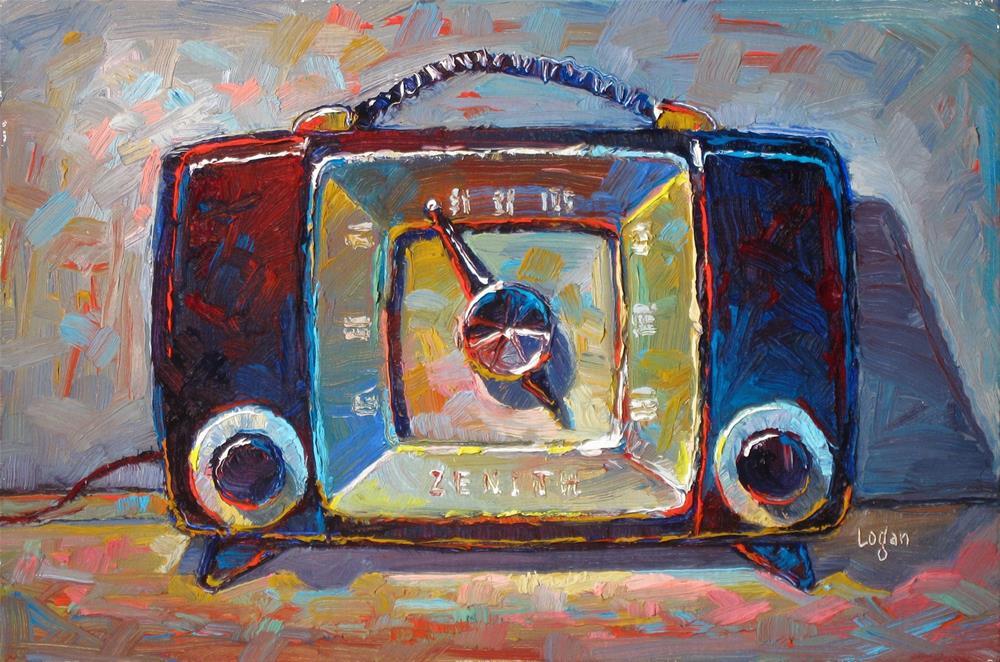 """Zenith H615Y Mid Century Radio"" original fine art by Raymond Logan"