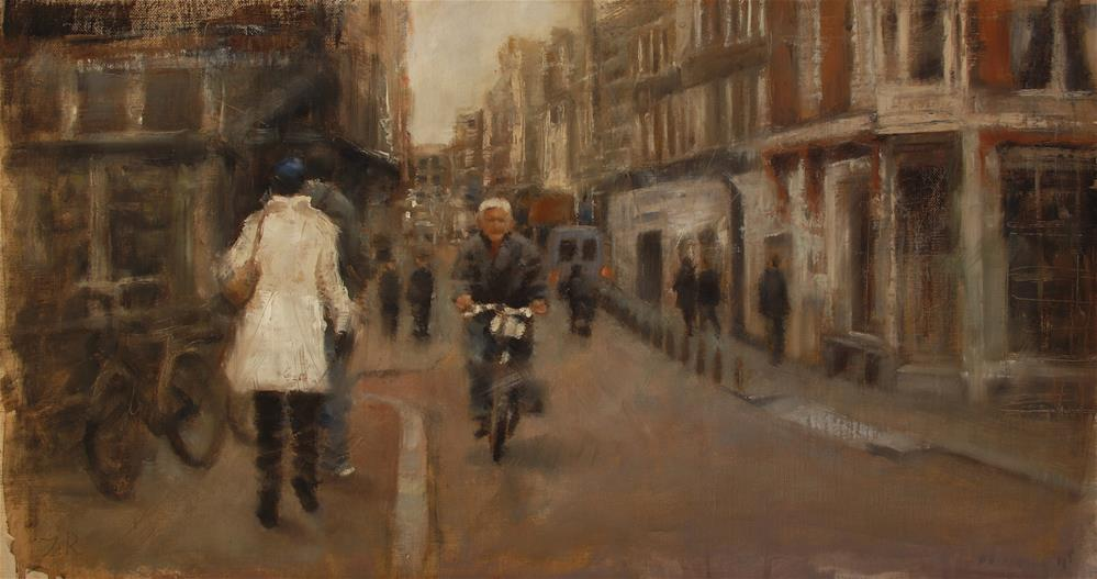 """A walk through Amsterdam"" original fine art by Zoran Rnjak"