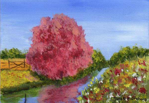 """Spring Fields ACEO"" original fine art by Janet Graham"