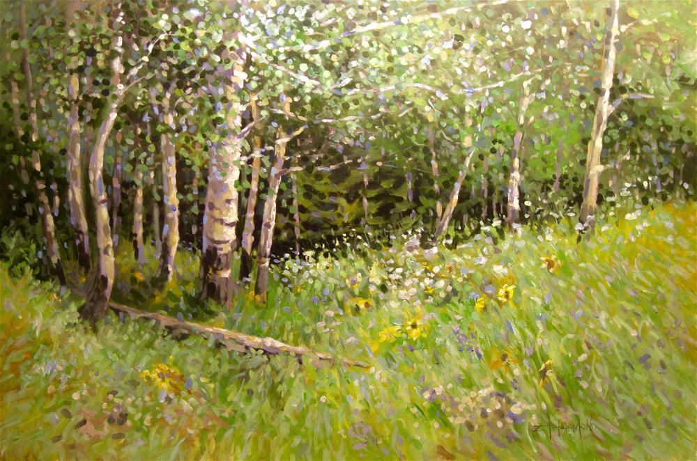 """Ruby Range Grove"" original fine art by Zack Thurmond"