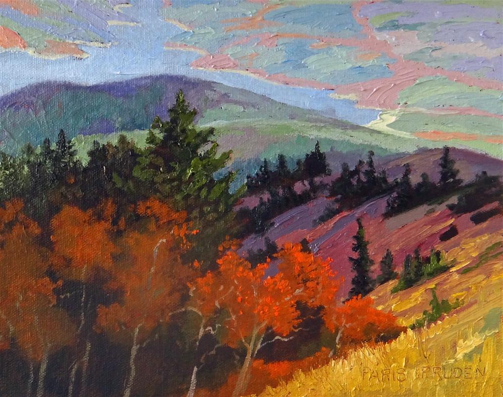 """On Top of the Mountain"" original fine art by Nancy Paris Pruden"