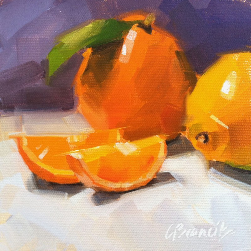 """Clementines"" original fine art by Candace Brancik"