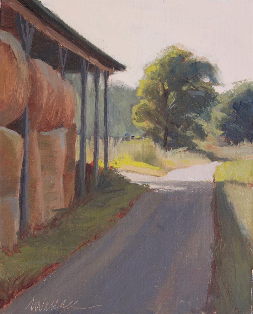 """#96 Waiting bales"" original fine art by Nancy Wallace"