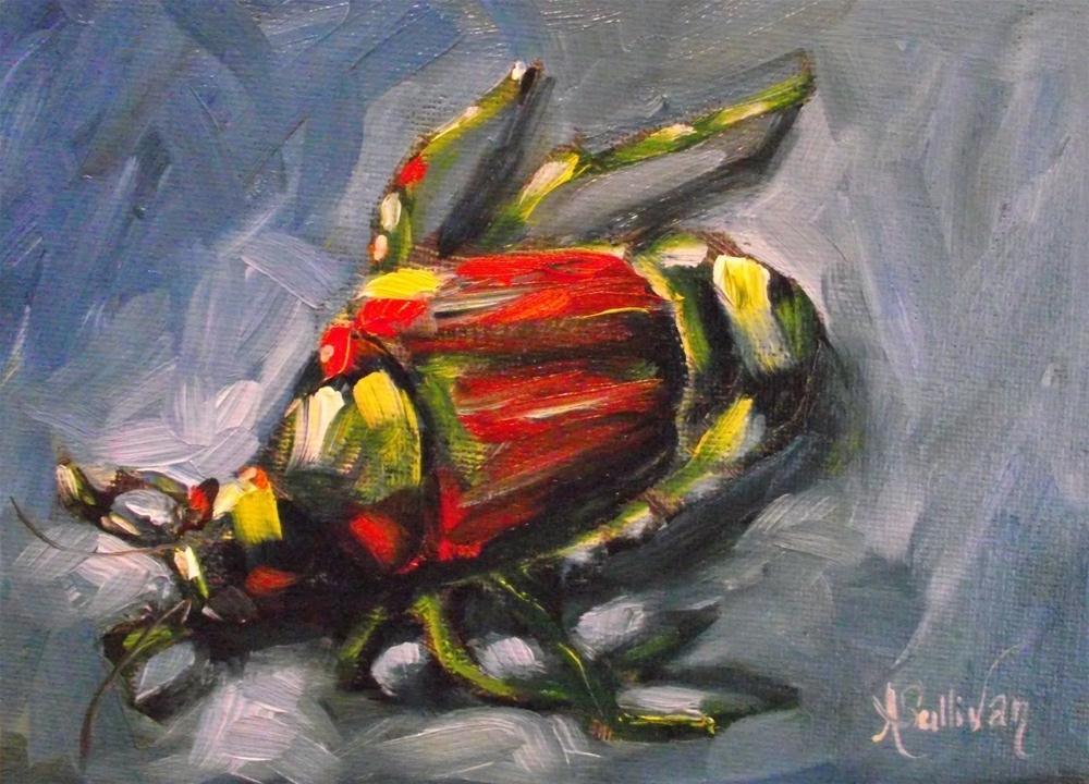 """This Little Bugger"" original fine art by Angela Sullivan"