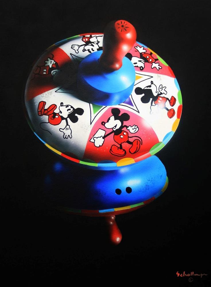 """Mickey Top in Shadows"" original fine art by Fred Schollmeyer"