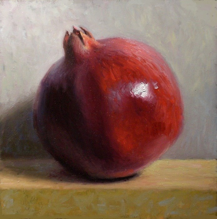 """Pomegranate  Original Oil Painting"" original fine art by Debra Becks Cooper"