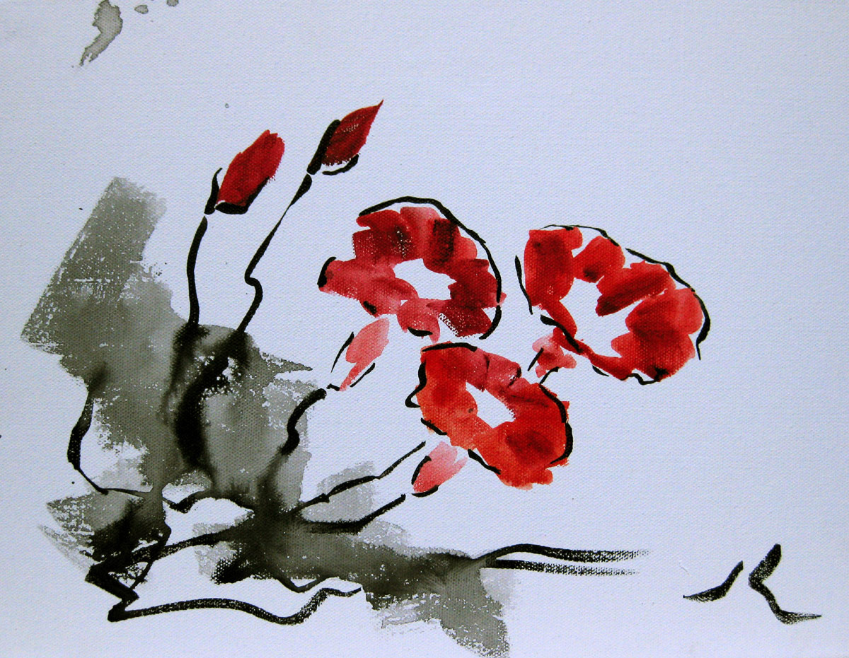 """Morning Glory"" original fine art by Julia Lu"