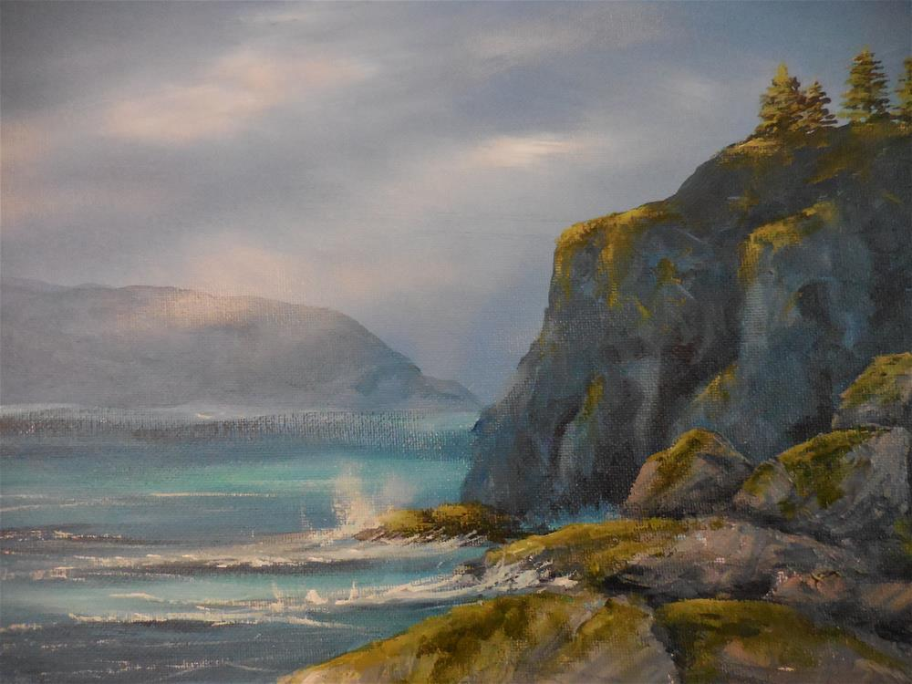 """Rocky Coast"" original fine art by Terri Nicholson"