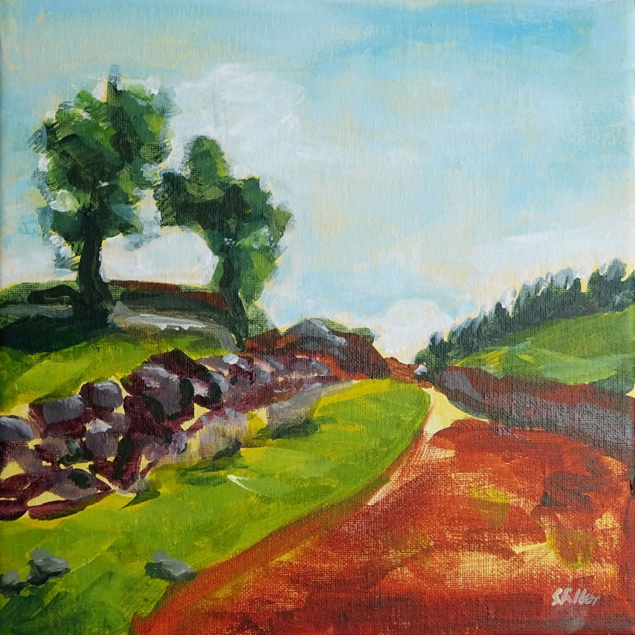 """1453 Landscape Demo"" original fine art by Dietmar Stiller"