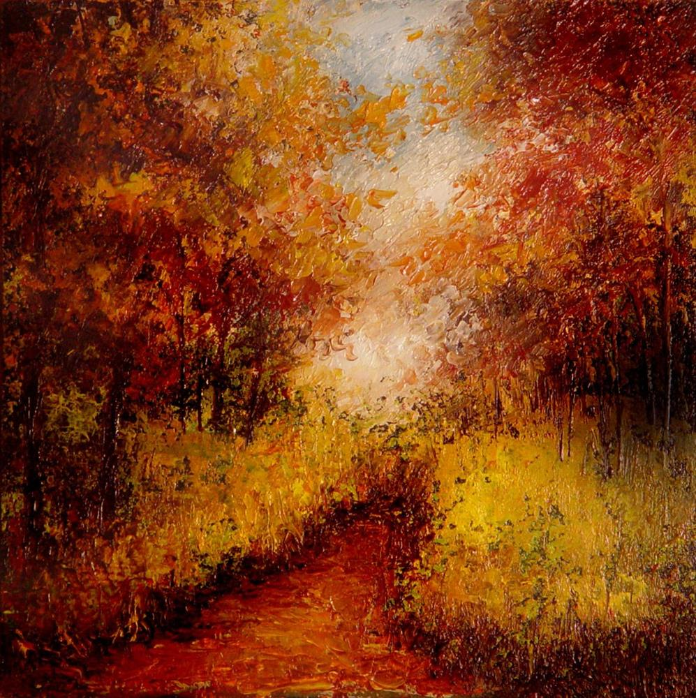 """Autumn Mountain Path"" original fine art by Bob Kimball"