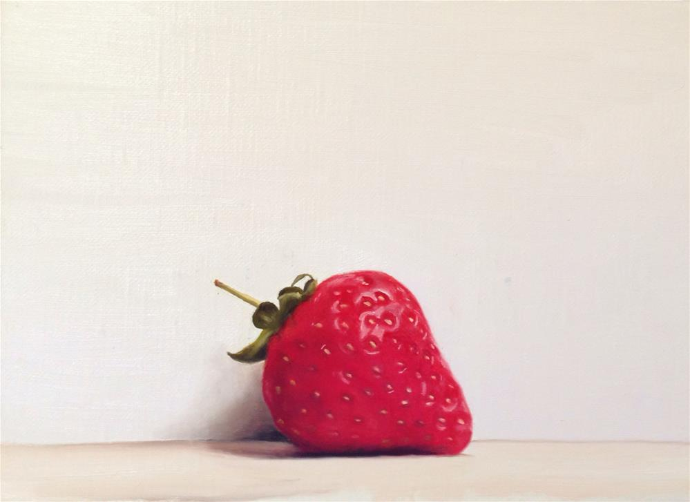 """A Strawberry"" original fine art by James Coates"