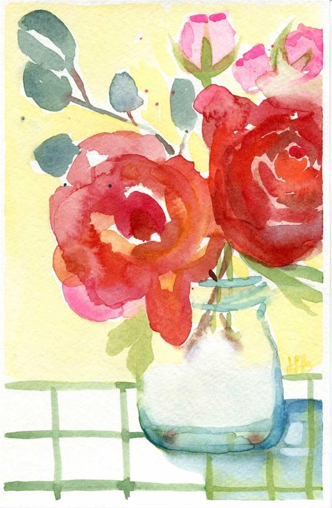 """Flowers For Mom"" original fine art by Heather Bennett"